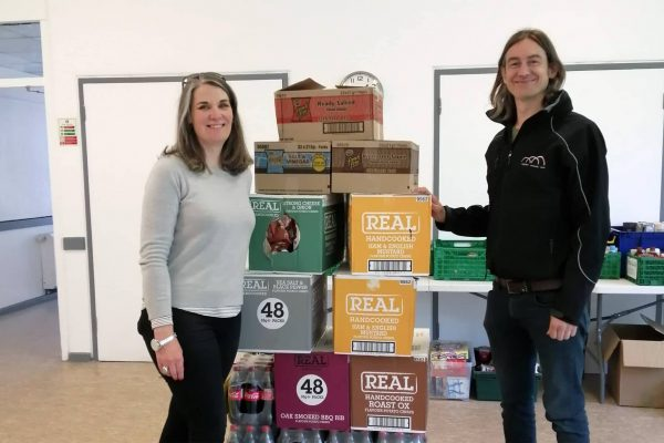 MK College donates food to Woughton Community Council's VE Day celebrations