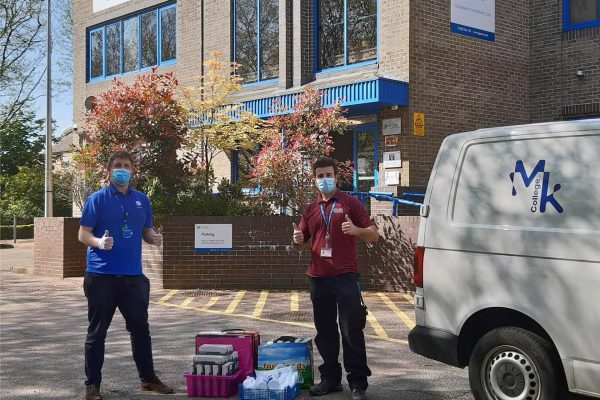 PPE, PE and emergency Parcels, how Milton Keynes College is supporting the community in the crisis
