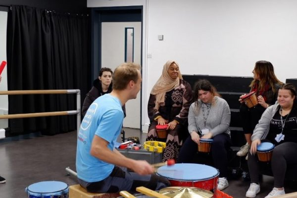 Young Creatives find their beat with Positive Mindful Drumming