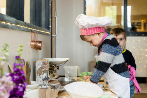 nursery child playing in kitchen roleplay